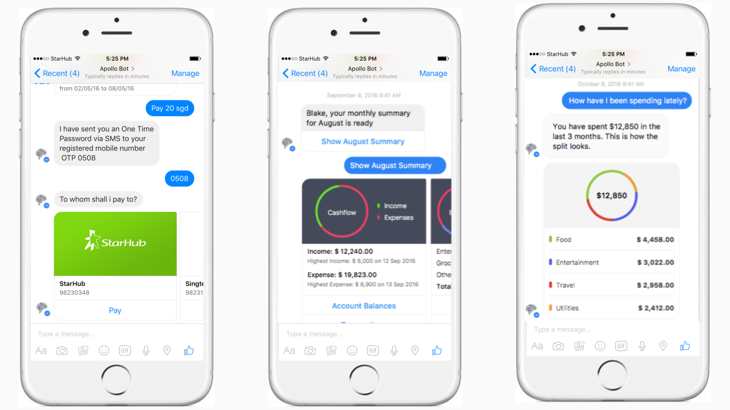 Chatbots in banking app