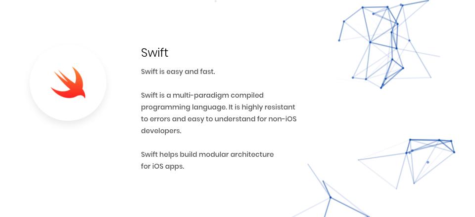 Fintech programming languages Swift