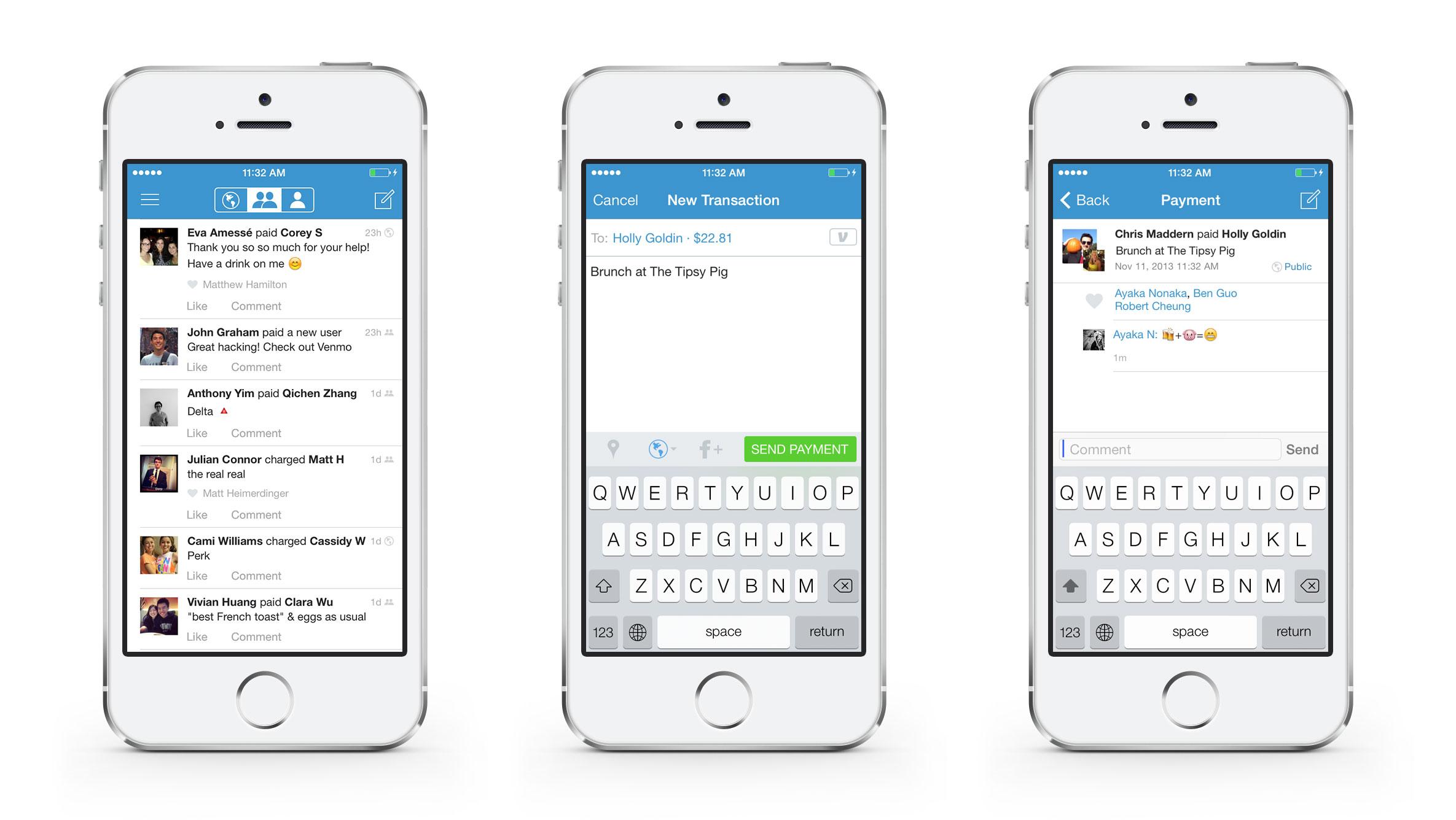 Venmo app has a social context