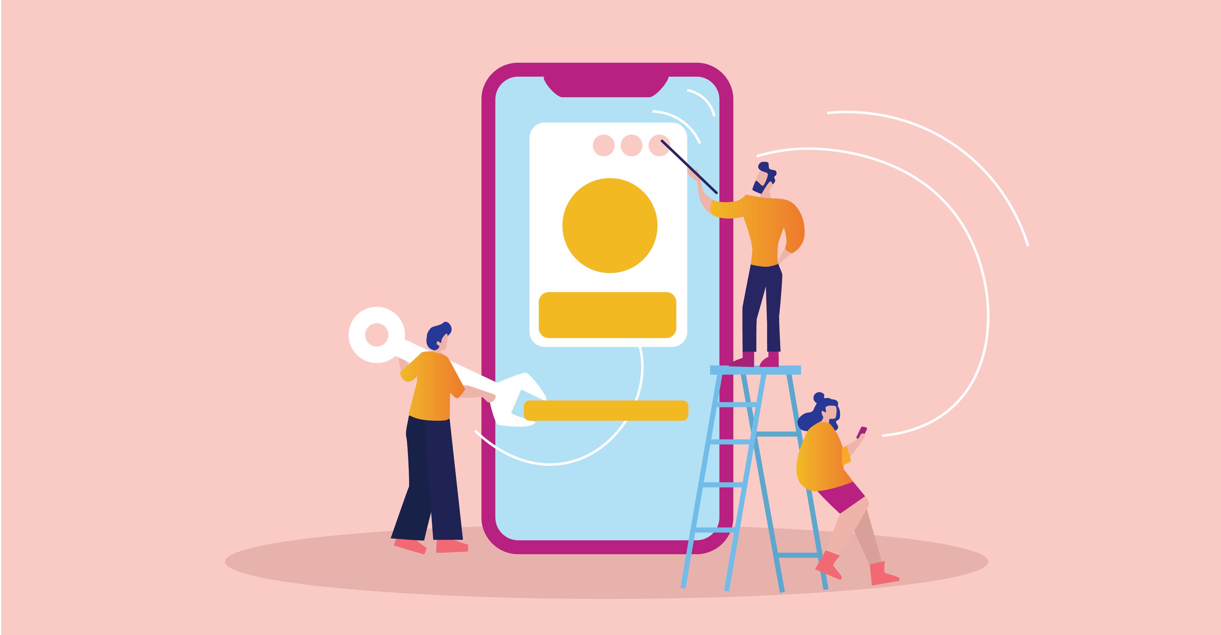 UX design banking app