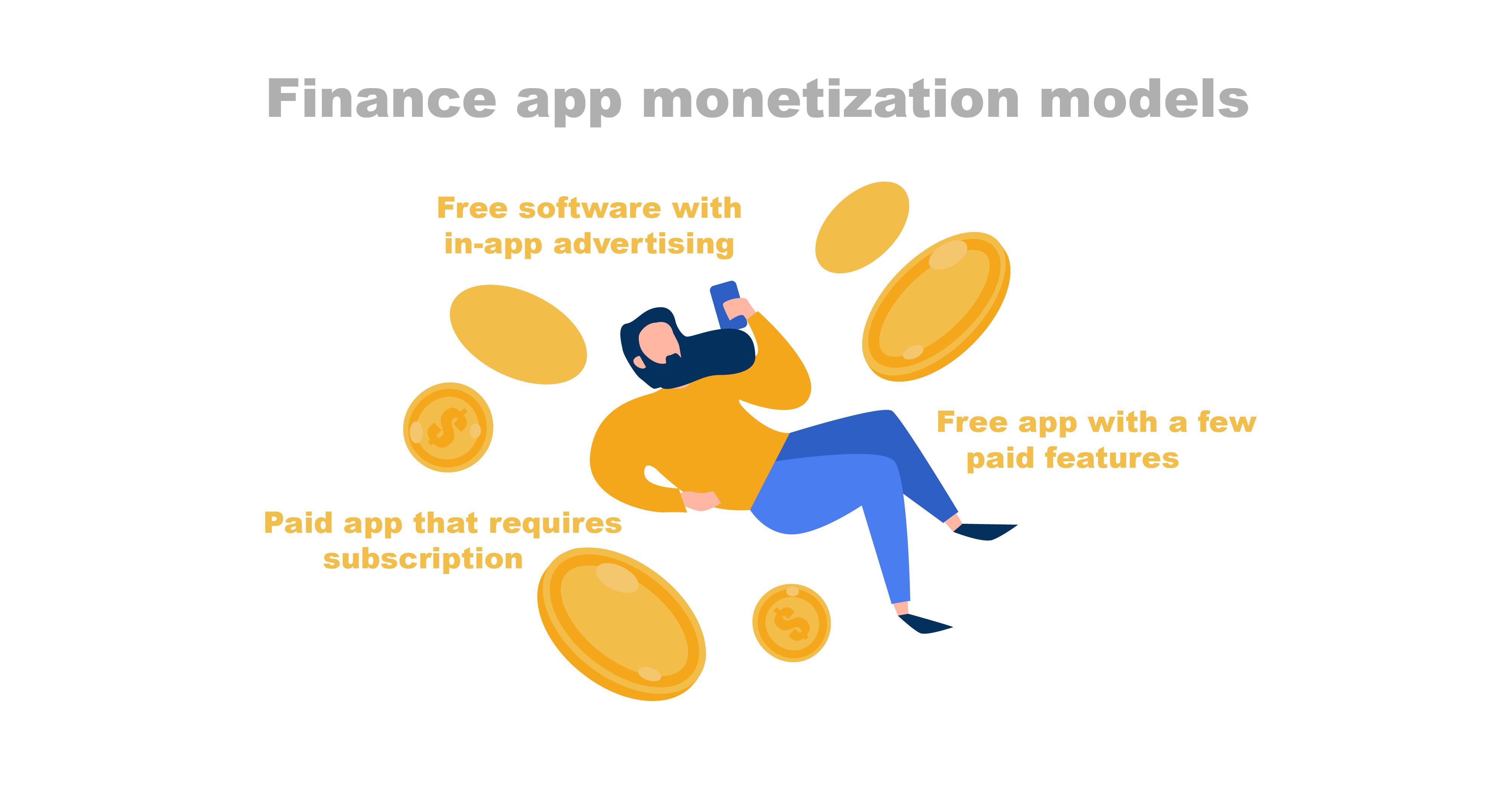 Finance app monetization models