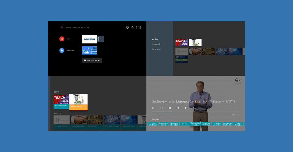 Coursera app for Android TV