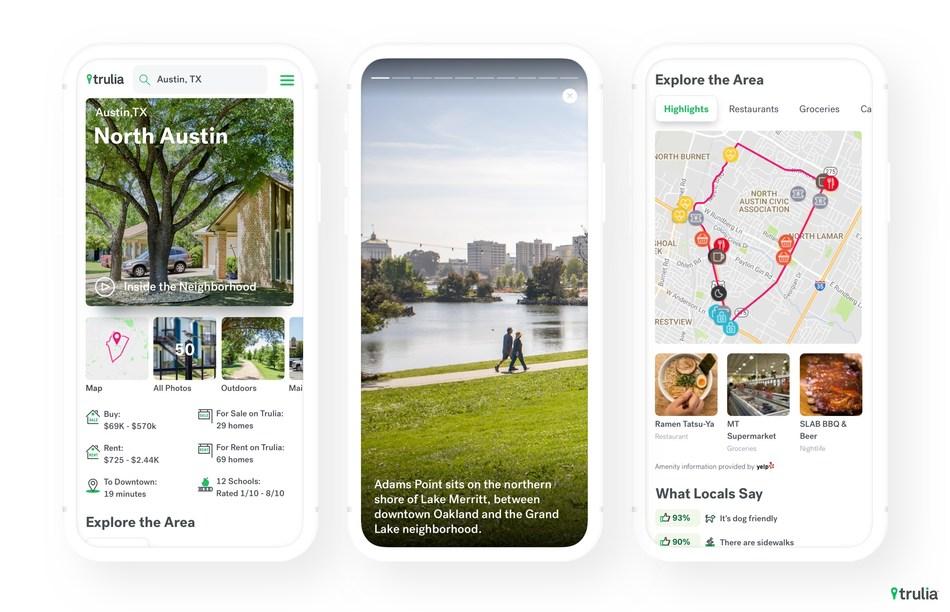 Viewing neighborhoods in Trulia app