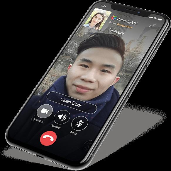 Opening door through the Butterflymx app