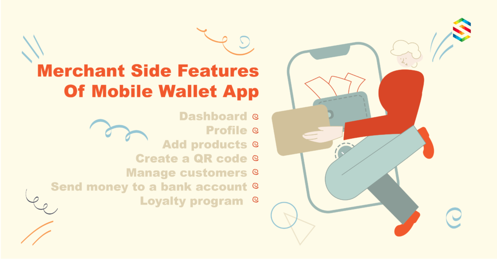 Mobile wallet features of user interface