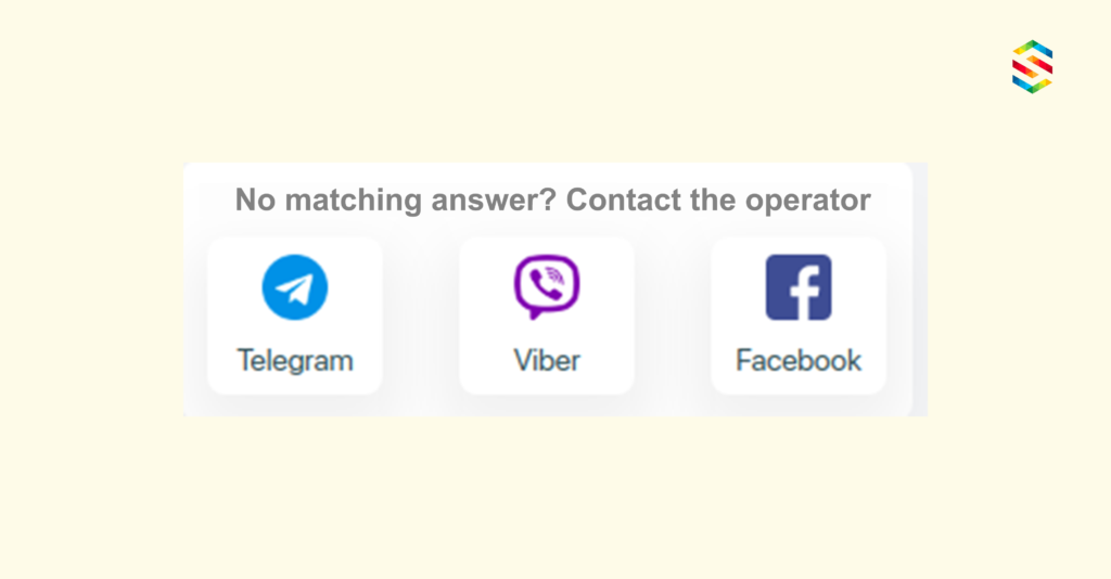Contact operator in messenger