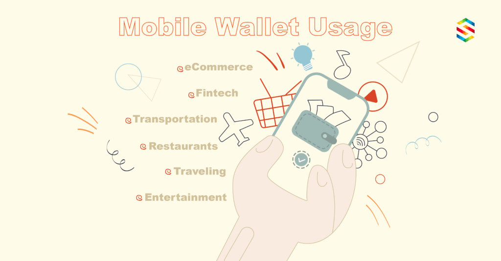 Mobile wallet usage in different industries