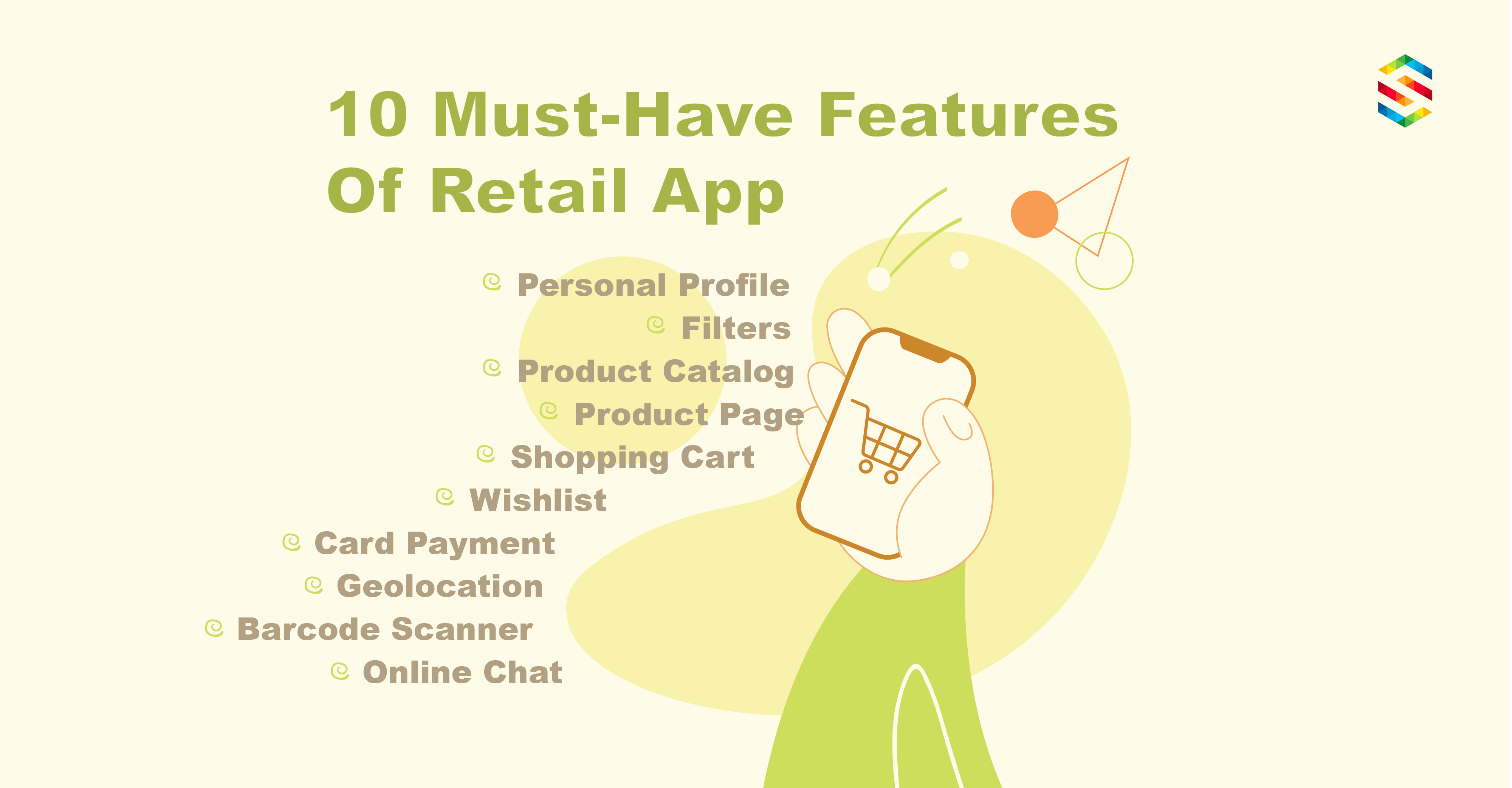 Retail app features